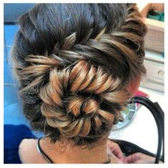 Cute braid - wonder if Megan wil let them do this to her hair for 8th grade graduation. She's very attached to her pony tail.