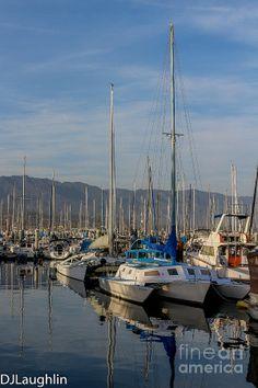 Sail masts of the boats in Santa Barbara Harbor back dropped with the Santa Ynez Mountains. Nantucket, Santa Barbara, Rhode Island, Old Town, Newport, San Francisco Skyline, Sailing, Backdrops, Dj