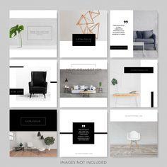 Interior Design Instagram, Instagram Design, Instagram Grid, Black And White Instagram, Black White, Insta Layout, Corporate Event Design, Booklet Design, Catalog Design