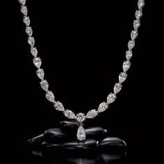 Jeffrey Daniels Diamond Necklace With A Diamond Drop Necklace