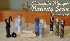 Clothespin Manger Nativity Scene Christmas Craft One way to really get the kids involved in the Christmas story is to create a manger scene of your own. It turns on their imaginations, same as when they play dolls. Here's a Christmas craft idea