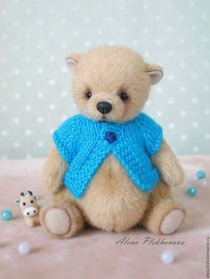 Мишки Тедди ручной работы. Ярмарка Мастеров - ручная работа. Купить Winnie. Handmade. Тедди, медвежонок, подарок, синтепух Teddy Toys, Bear Toy, Plush Animals, Plushies, My Works, Needle Felting, Teddy Bears, Handmade, Friends