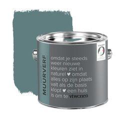 Mooie kleur! vtwonen krijt mat muurverf petrol blue 2,5 l   Muurverf kleur   Muurverf   Verf & verfbenodigdheden   KARWEI