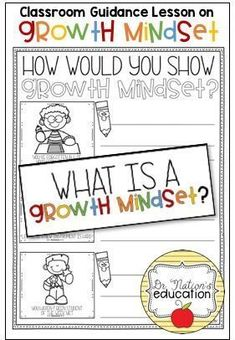 A classroom guidance lesson on the character education trait of growth mindset. Use in the regular classroom or as a part of the school counseling program for through graders. Elementary School Counselor, School Counseling, Elementary Schools, Guidance Lessons, School Programs, A Classroom, Character Education, Growth Mindset, Teaching