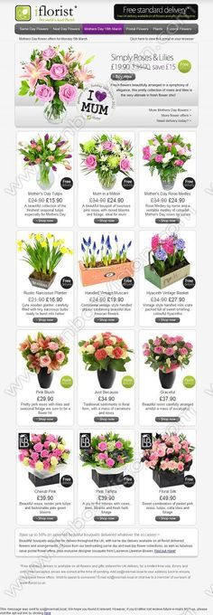 creative email design ideas for Mother Day, see millions of real email campaigns from top brands around the world at www.inboxvision.com