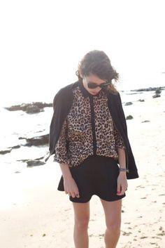 fashion is a playground @Jennyfer  neoprene skirt : http://www.jennyfer.com/fr/style-guide/graphic-bw/jupe-patineuse-noire-en-neoprene.html teddy jacket : http://www.jennyfer.com/fr/vestes-et-manteaux-1/teddy-noir-manches-matelassees.html leo shirt :  http://www.jennyfer.com/fr/chemises-et-tuniques-1/chemise-en-mousseline-imprime-leopard-camel.html