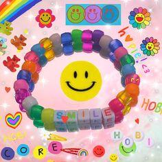 Diy Kandi Bracelets, Pony Bead Bracelets, Homemade Bracelets, Diy Friendship Bracelets Patterns, Bracelet Crafts, Cute Bracelets, Pony Beads, Kandi Patterns, Perler Bead Art