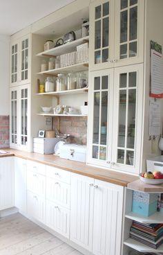 seidenfeins Blog vom schönen Landleben: Ich bin soooooo glücklich ! Die neue alte weiße Küche No2 * I' m so lucky ! My new old white kitchen no 2