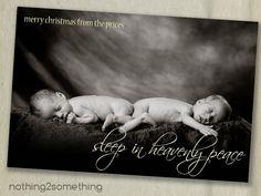 Printable Photo Christmas Card-Sleep In Heavenly Peace. $15.00, via Etsy.