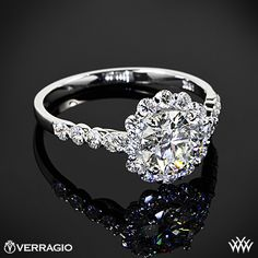 Verragio Round Halo Diamond Engagement Ring with 1.146ct A CUT ABOVE