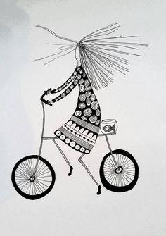 Time is always leaving. Just let it. Illustration made by Bente Sandtorv