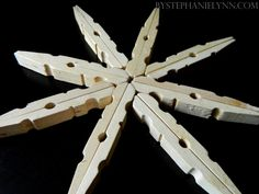 Clothespin snowflake--I already have the clothespins. So doing this.