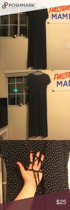 90s Long vintage black dress Vintage long dress, laces up in back, 90s tabloid Dresses Maxi