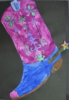 Cowboy Boot art lesson