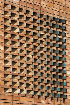 Gallery of Ozgol Apartment / Hooba Design Group - 16 Brick House Designs, Brick Design, Facade Design, Building Facade, Building Design, Brick Cladding, Brick Works, Brick Detail, Brick Masonry