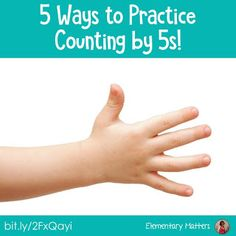 Five Ways to Practice Counting by Fives: Here are several ideas to help students practice skip counting, including a few freebies! Counting In 5s, Counting Activities, 2nd Grade Math, Grade 2, Daycare Lesson Plans, Elementary Math, Upper Elementary, School Fun, School Days