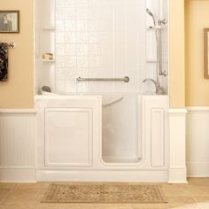 Indy Renovation is adept at installing walk-in tubs and showers for bathroom safety. Call us in the Indianapolis area at Walk In Tub Shower, Bathtub Shower Combo, Walk In Bathtub, Small Walk In Showers, Shower Remodel, Bath Remodel, Handicap Bathroom, Basement Bathroom, Master Bathroom
