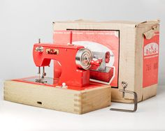 Toy SEWING machine made in US Zone Germany. by OldSchoolKitsch