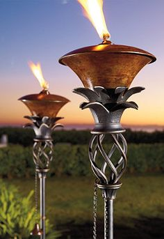 Use our graceful Pineapple Torch to light walkways, pool areas, and lounging patios.