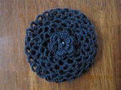 Crochet Bun Cover Snood Ballerina Ballet Dance Black small pair