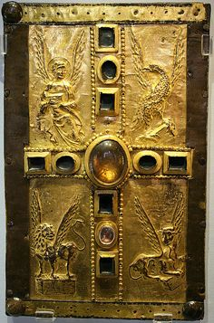 Carolingian book cover,gold 10th cent. better picture