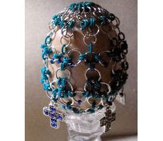 Chain Maille and Bead Egg Pattern at Sova-Enterprises.com