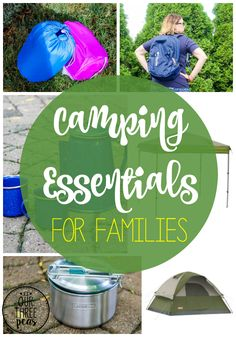Thinking of taking your kids camping this summer? Make your trip as fun as possible with these camping essentials for families! | Our Three Peas