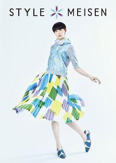 まとふ、大正・昭和時代の織物「銘仙」を和装から洋装へ - 松屋銀座で「STYLE MEISEN」展 - 写真1枚目 | ファッションプレス