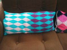 DIY #Crochet #harlequin #pillow #cover