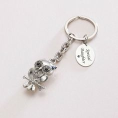 Engraved Owl Key Ring | Charming Engraving