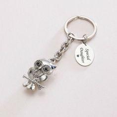 Engraved Owl Key Ring | Charming Engraving