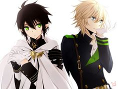 Mika actually looks a lot cuter in the black and green uniform (for got the name, demon something or other) than he does in the white one