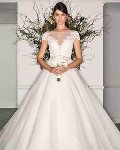 Legends Romona Keveza Fall 2017 Wedding Dress Collection   Martha Stewart Weddings – Short-sleeve ball gown wedding dress
