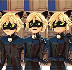animation, Chat Noir, and kawaii image