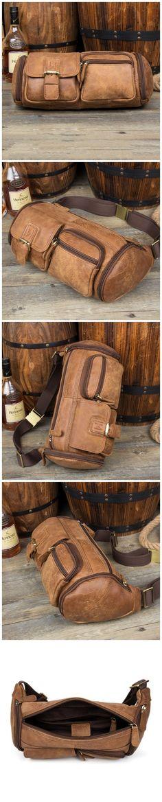 Full Grain Leather Waist Bag Men Shoulder Bag Retro Messenger Bag Model Number: Dimensions: x x / 33 cm(L) x 13 cm(W) x 13 cm(H) Weight: lb / 1 kg Hardware: Brass Hardware Shoulder Strap: Adjustable Color: Brown Features: Bag Men, All Fashion, Christmas Shopping, Moccasins, Messenger Bag, Shoulder Strap, Grains, Wallet, Retro