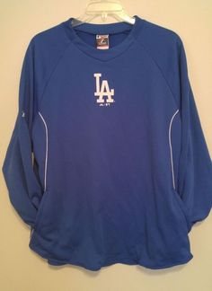 Majestic Los Angeles DODGERS Fleece Pullover Practice Sweatshirt Mens XL Blue LA #Majestic #LosAngelesDodgers Baseball Gear, Buster Posey, Los Angeles Dodgers, Mens Xl, Mlb, Pullover, Sweatshirts, Mens Tops, Shopping
