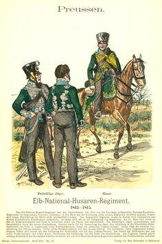Knötel-Tafel 14/13   Preußen: Elb-National-Husaren-Regiment. 1813-1815.