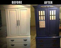 TARDIS wardrobe. #geronimo                                                                                                                                                                                 More