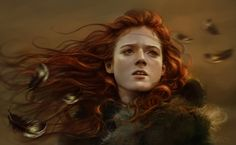 A fantastic painting of Ygritte, a character from Game of Thrones.  Ygritte by AniaMitura