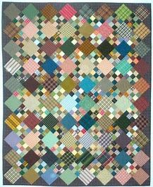 Elsie M. Campbell and Aunt Mimi's Quiltworks: July Nine patch with alternate squares. 9 Patch Quilt, Star Quilt Blocks, Lap Quilts, Strip Quilts, Scrappy Quilts, Quilting Blogs, Quilting Designs, Plaid Quilt, Fat Quarter Quilt