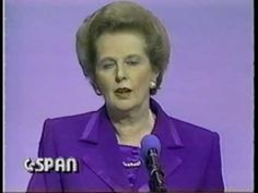 Margaret Thatcher does the Dead Parrot Sketch. Arf.