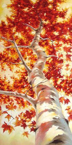 枫树—油画作品