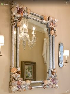 Shell mirror with bling!