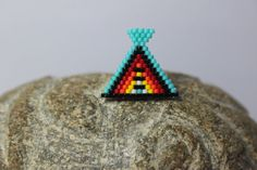 Shop for labradorite on Etsy, the place to express your creativity through the buying and selling of handmade and vintage goods. Brick Stitch, Labradorite, Stud Earrings, Etsy, Vintage, Badges, Creative, Handmade, Big