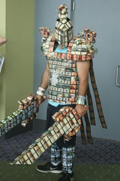 This warrior has all the Magic: The Gathering mana he needs :)