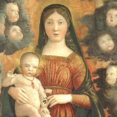 Andrea Mantegna (1431-1506) - Pala Trivulzio (Madonna in gloria con i santi Giovanni Battista, Gregorio Magno, Benedetto e Girolamo), dettaglio - 1497 - Pinacoteca del Castello Sforzesco a Milano.