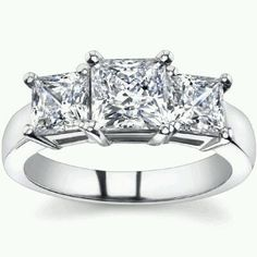 RESERVED 1.25 Ct Diamond Engagement Ring Princess by ADiamondDozen, $849.99