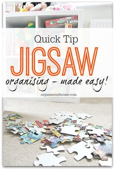 How to get your jigsaws easily sorted - quick tip to help organise your puzzles