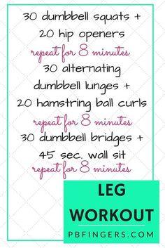 Leg Workout: Three 8-Minute Circuits + Finisher