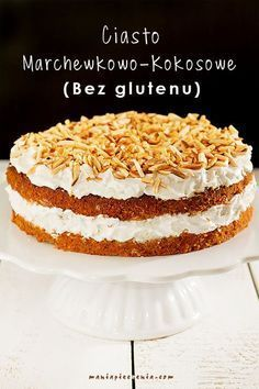 Carrot-Coconut Cake [Gluten and Lactose Free] Dessert Sans Gluten, Gluten Free Sweets, Gluten Free Cakes, Fruit Recipes, Sweet Recipes, Cake Recipes, Dessert Recipes, Healthy Cake, Healthy Sweets
